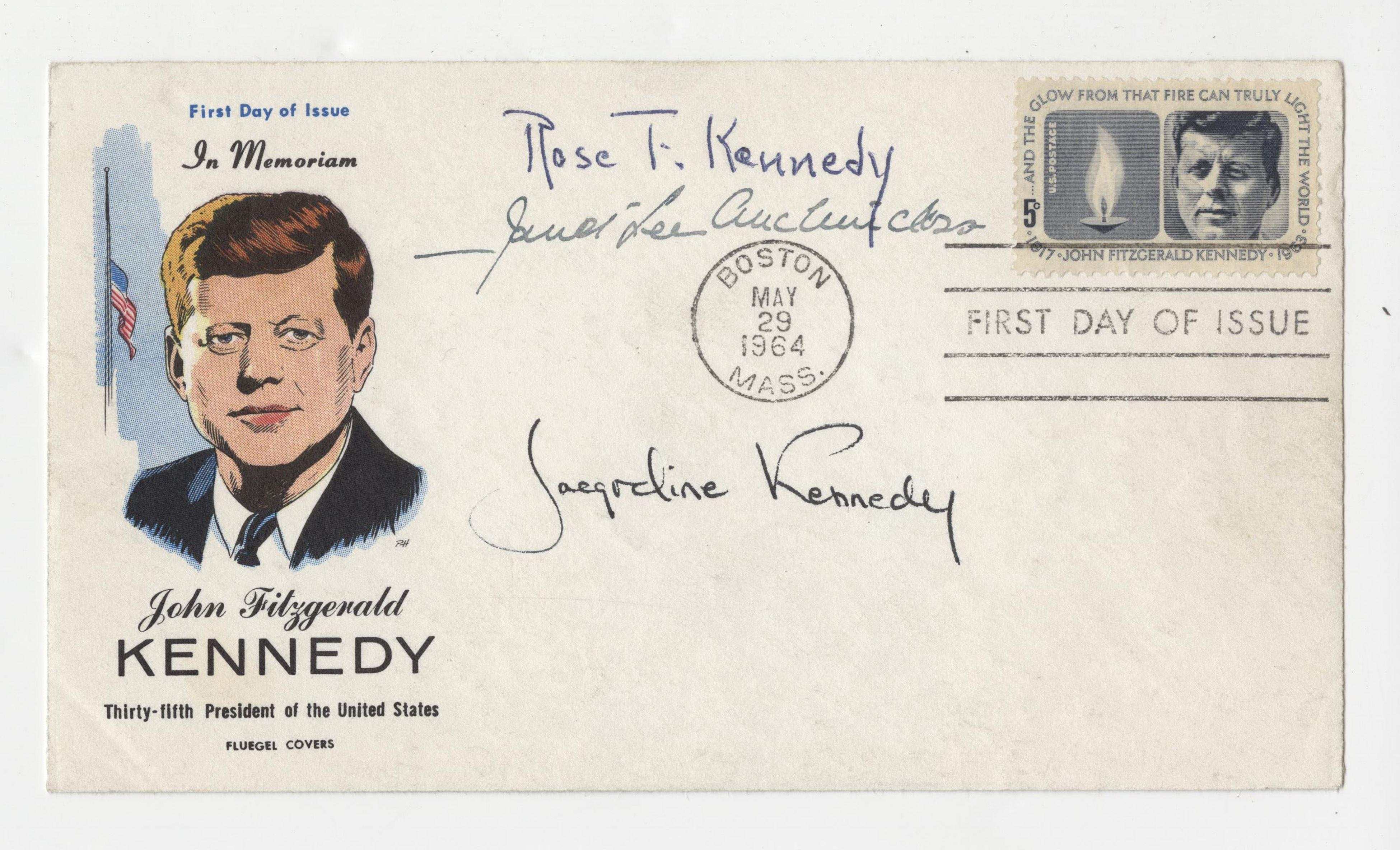 Jackie, Rose and J. L. Auchincloss: President Kennedy, FDC Signed