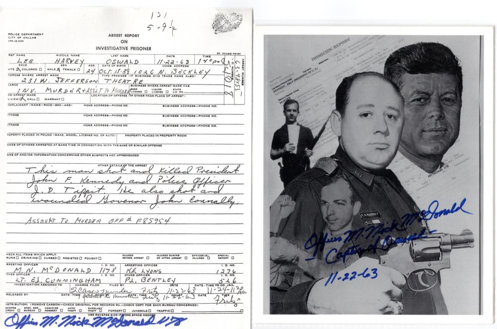 18 Items Nick McDonald Who Captured President Kennedy's Assassin Oswald