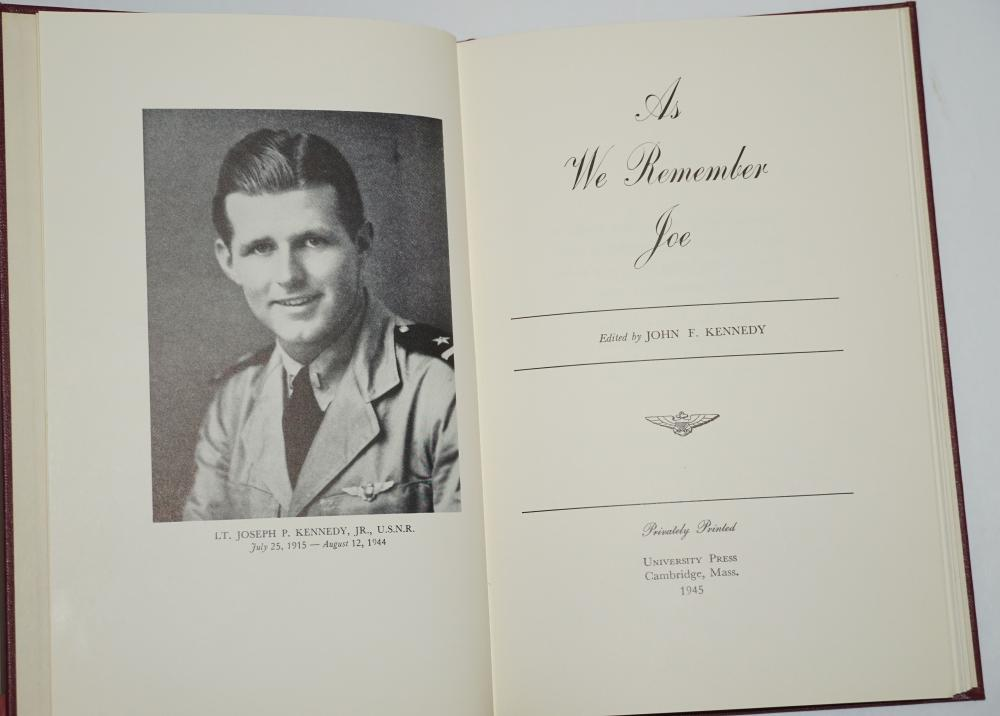 "John Kennedy's Privately Published Book, ""As We Remember Joe"""