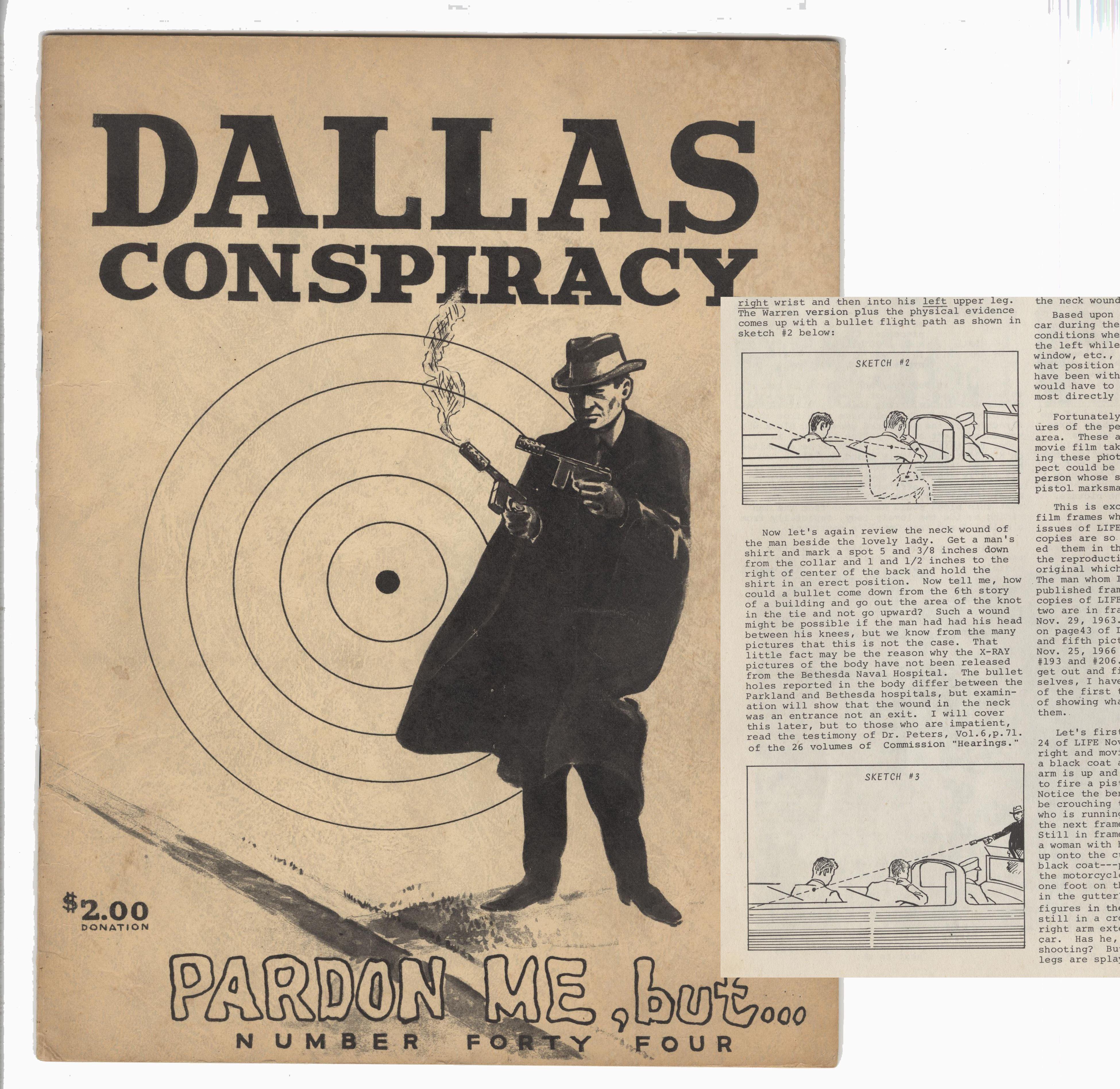 """President Kennedy Rare Conspiracy Publication """"Dallas Conspiracy"""""""