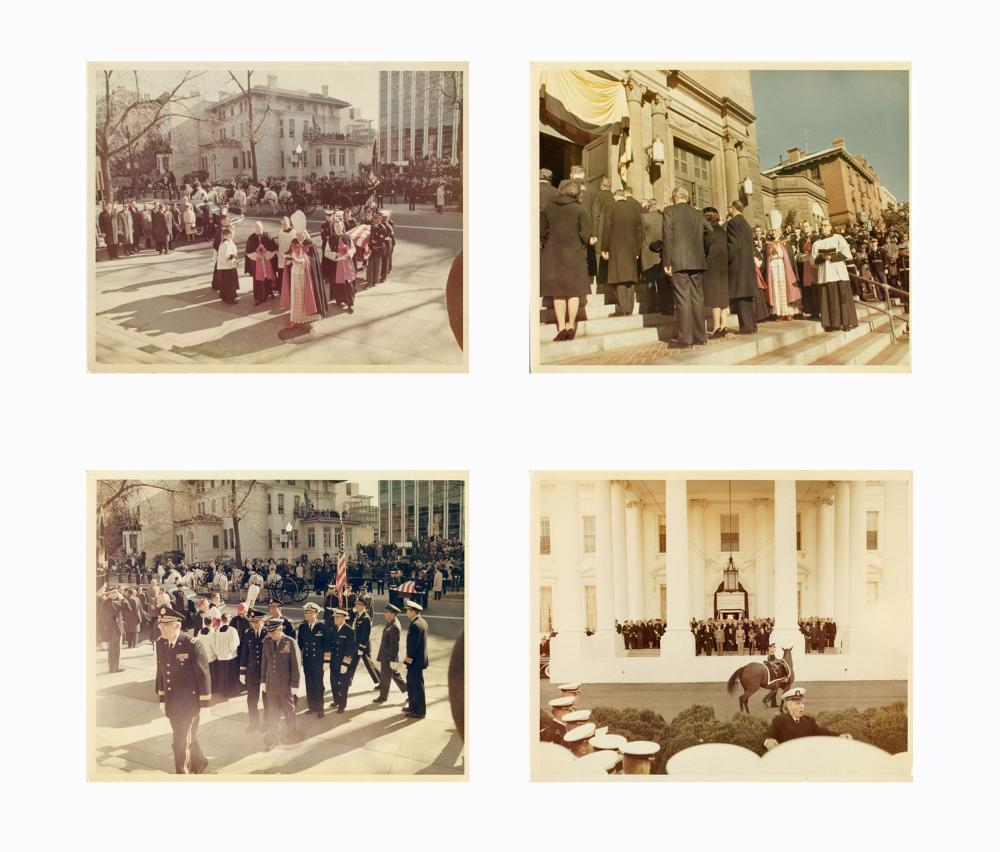 """Kennedy's Funeral Ceremonies Shown in 27 Vintage 8"""" x 10"""" Color Photos, by Cecil Stoughton from his Personal Album"""