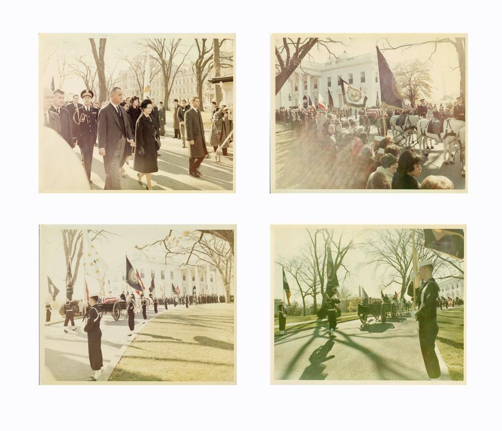 "Kennedy's Funeral Ceremonies Shown in 27 Vintage 8"" x 10"" Color Photos, by Cecil Stoughton from his Personal Album"