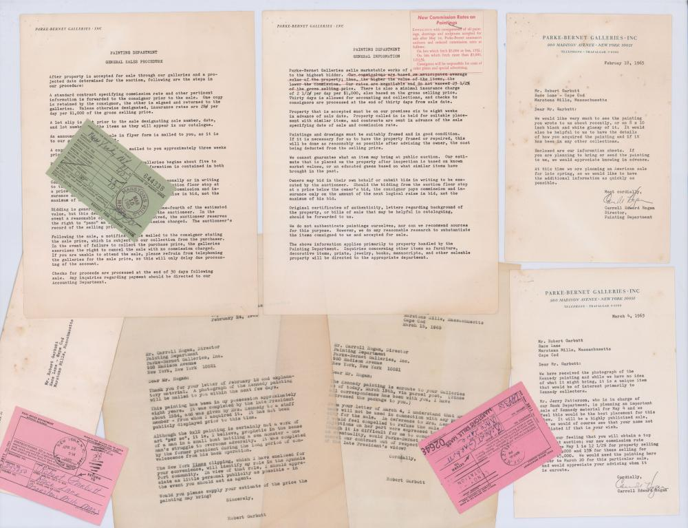 8 Rare Paintings Attributed to John & Jackie Kennedy, Circa 1954, Fantastic Documentation Including Sotheby's Letters!