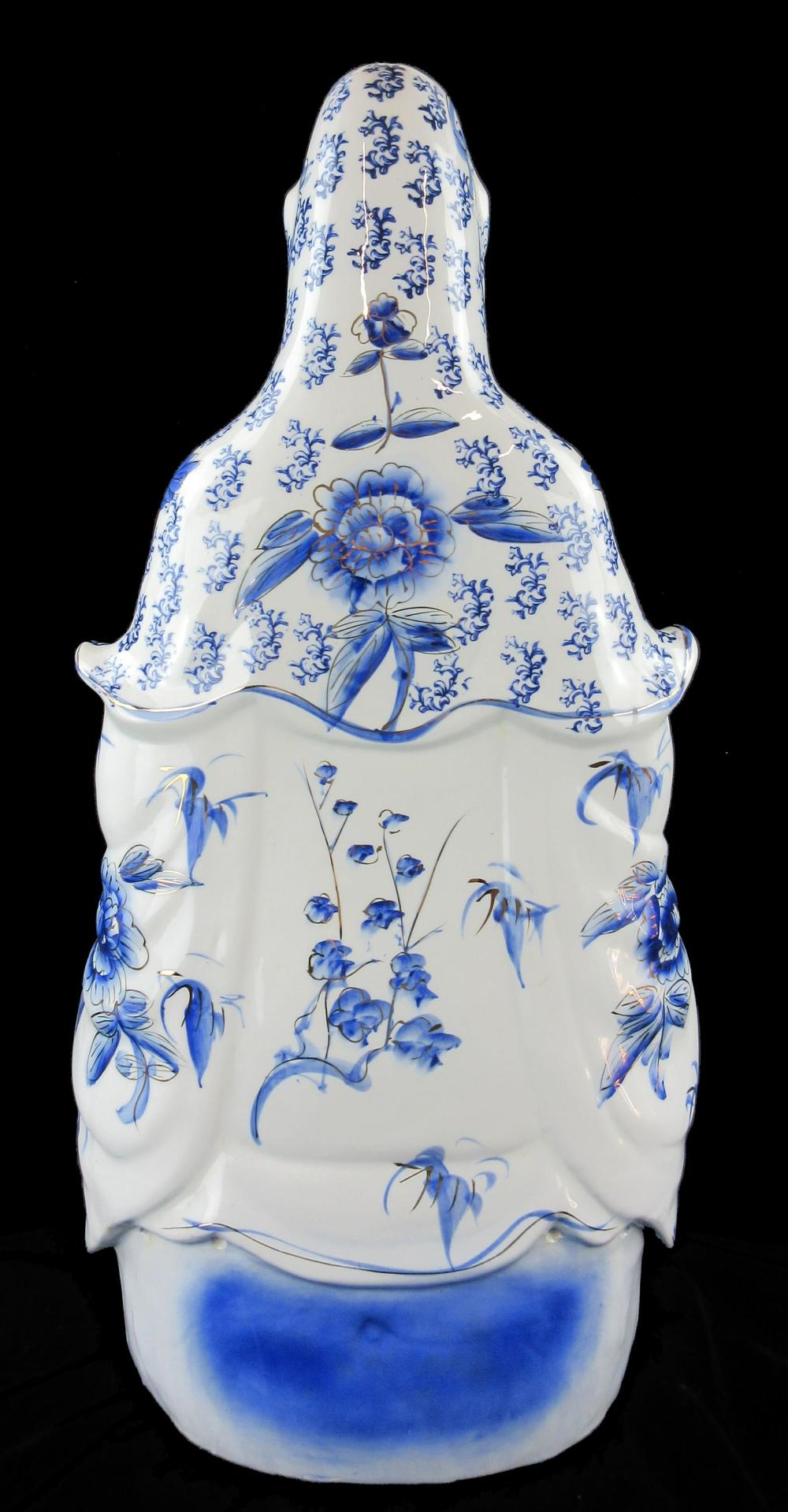 """Jack Kerouac's Personally Owned Monumental Porcelain Statue of Guanyin, Nearly 28"""" High"""