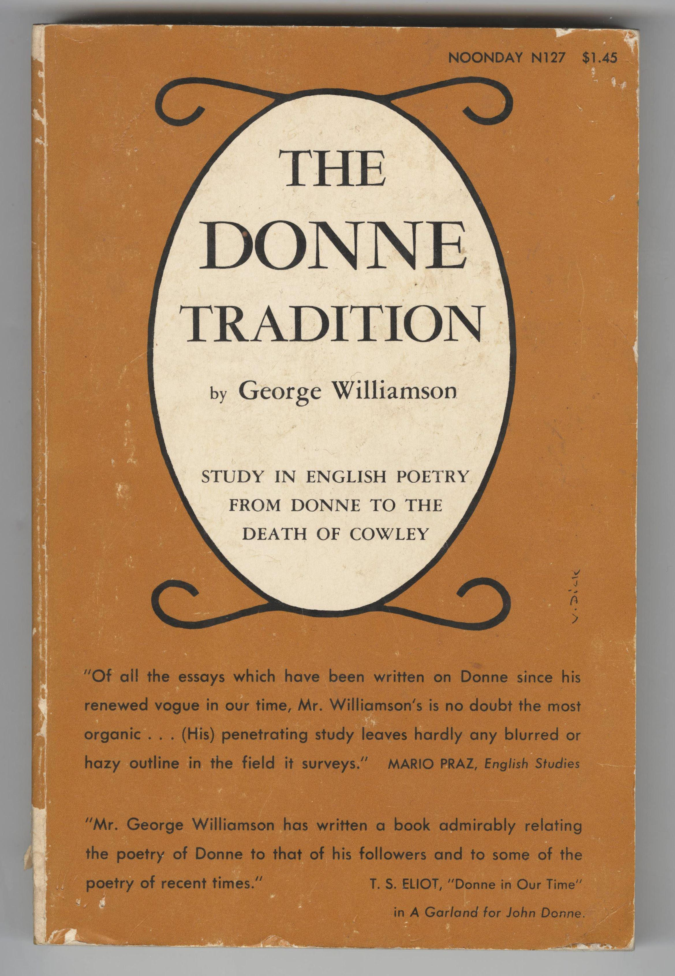 "Jack Kerouac's Personally Owned Poetry Study Book ""The Donne Tradition"", Estate Provenance"