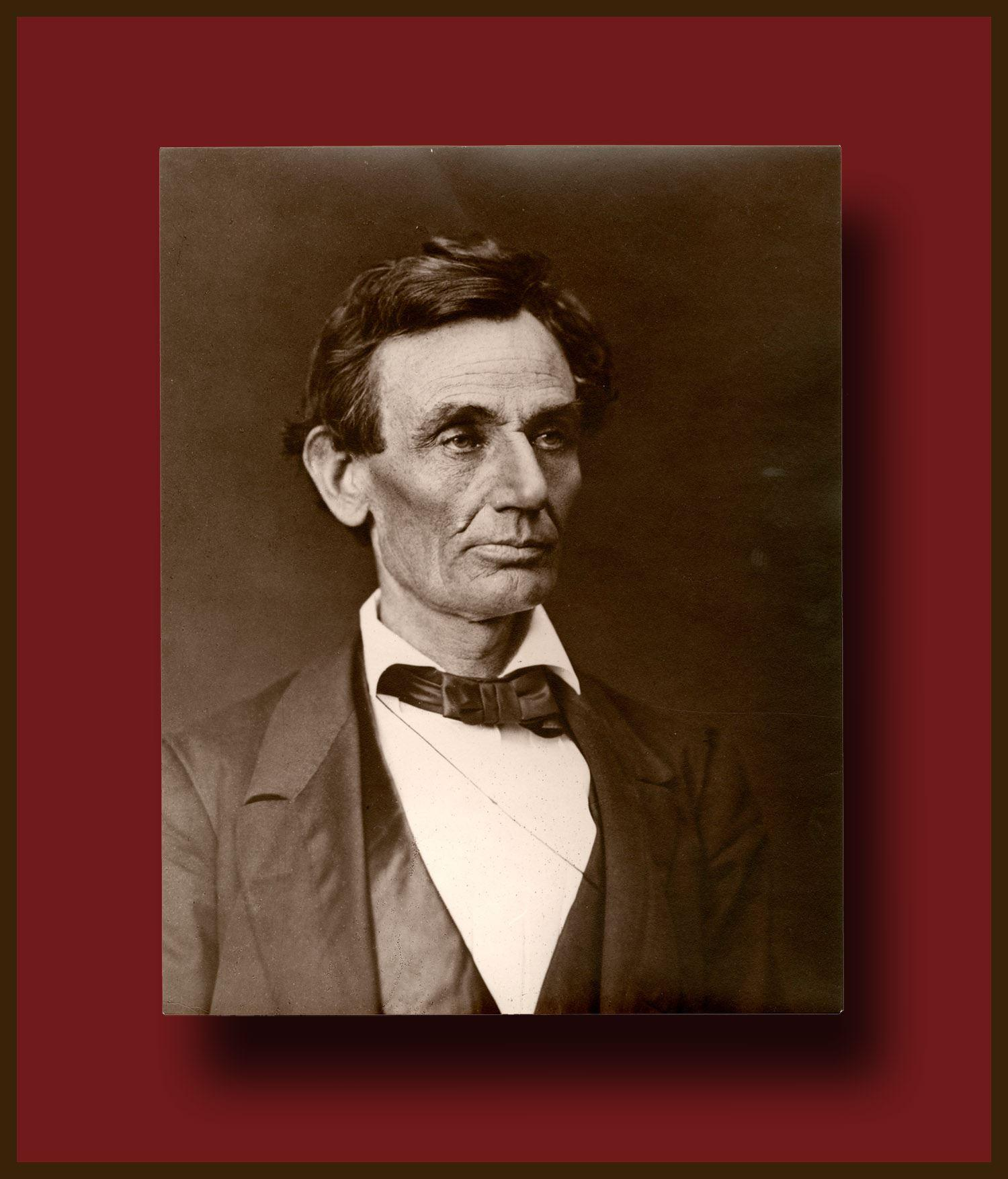 Large Photograph of Abraham Lincoln from negative made by Alexander Hesler in 1860