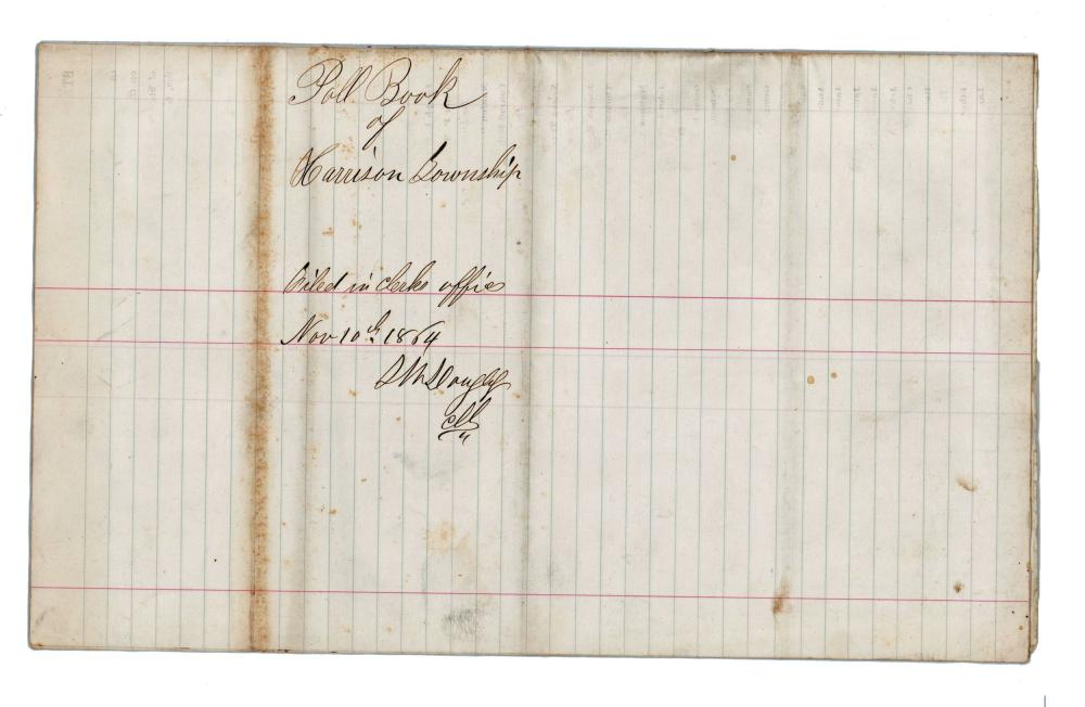Abraham Lincoln Poll Book from Southern Indiana Reveals Opposition