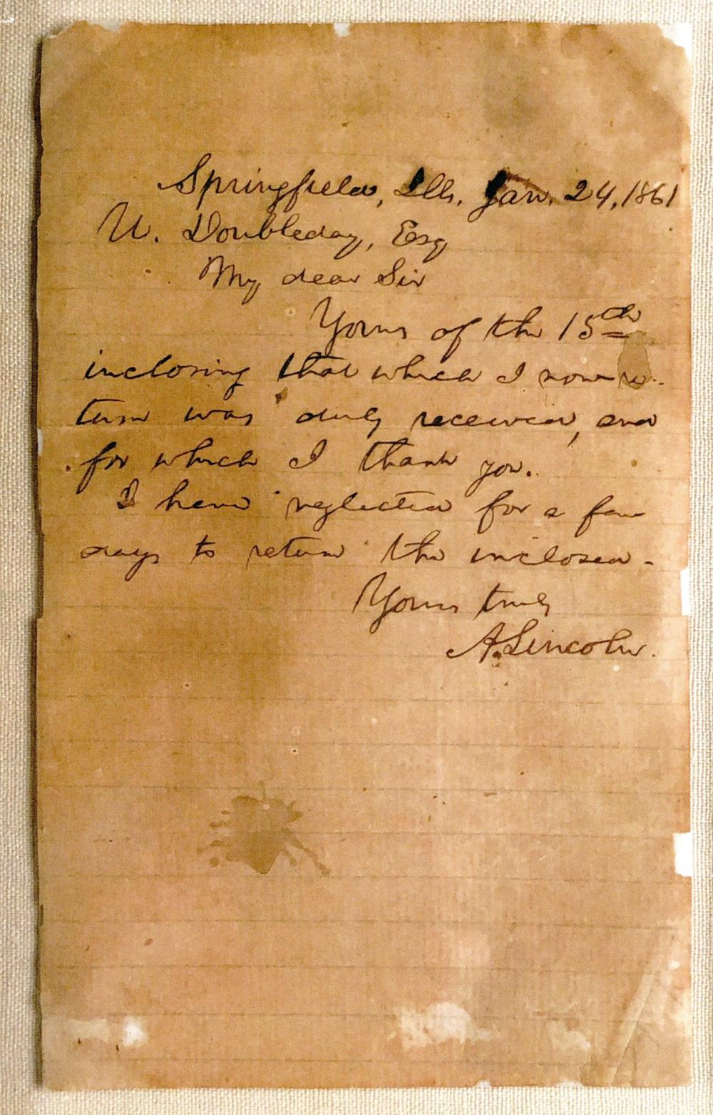 President-Elect Lincoln Gets Back-Channel Update from Fort Sumter