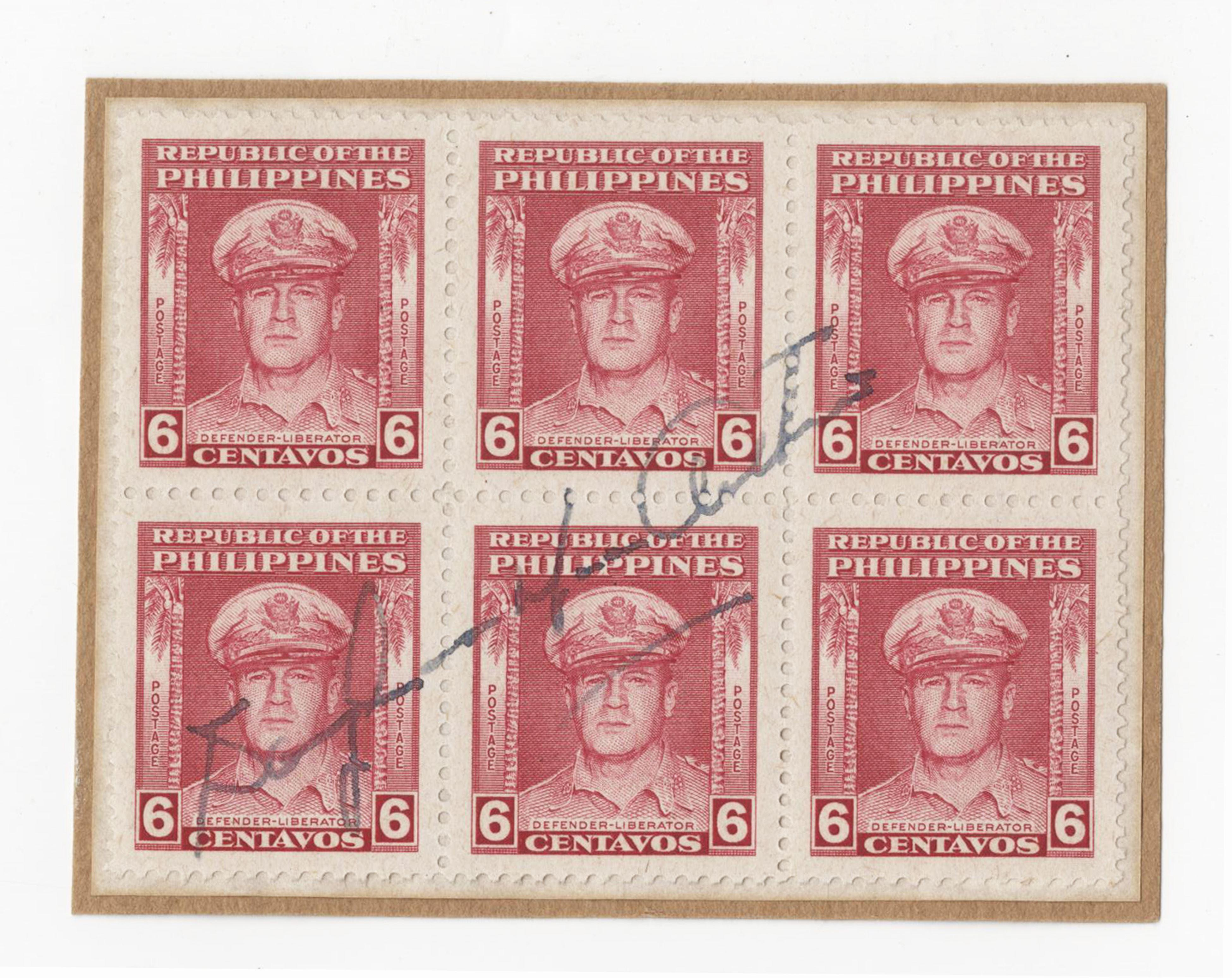 Douglas MacArthur Signed Stamps