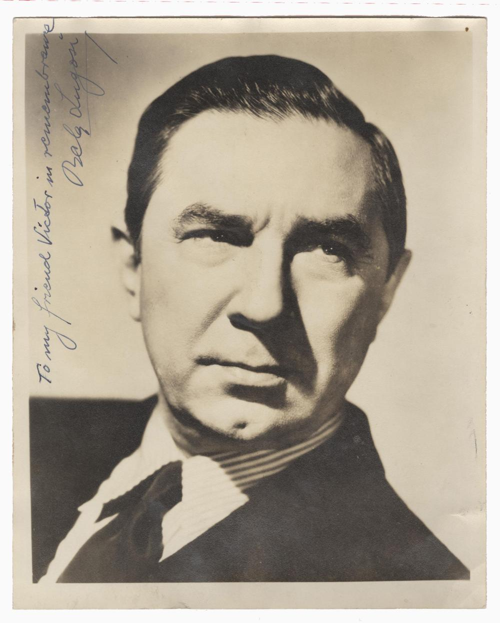 Bela Lugosi Signed Large B&W Photo with Theater Program, 1948