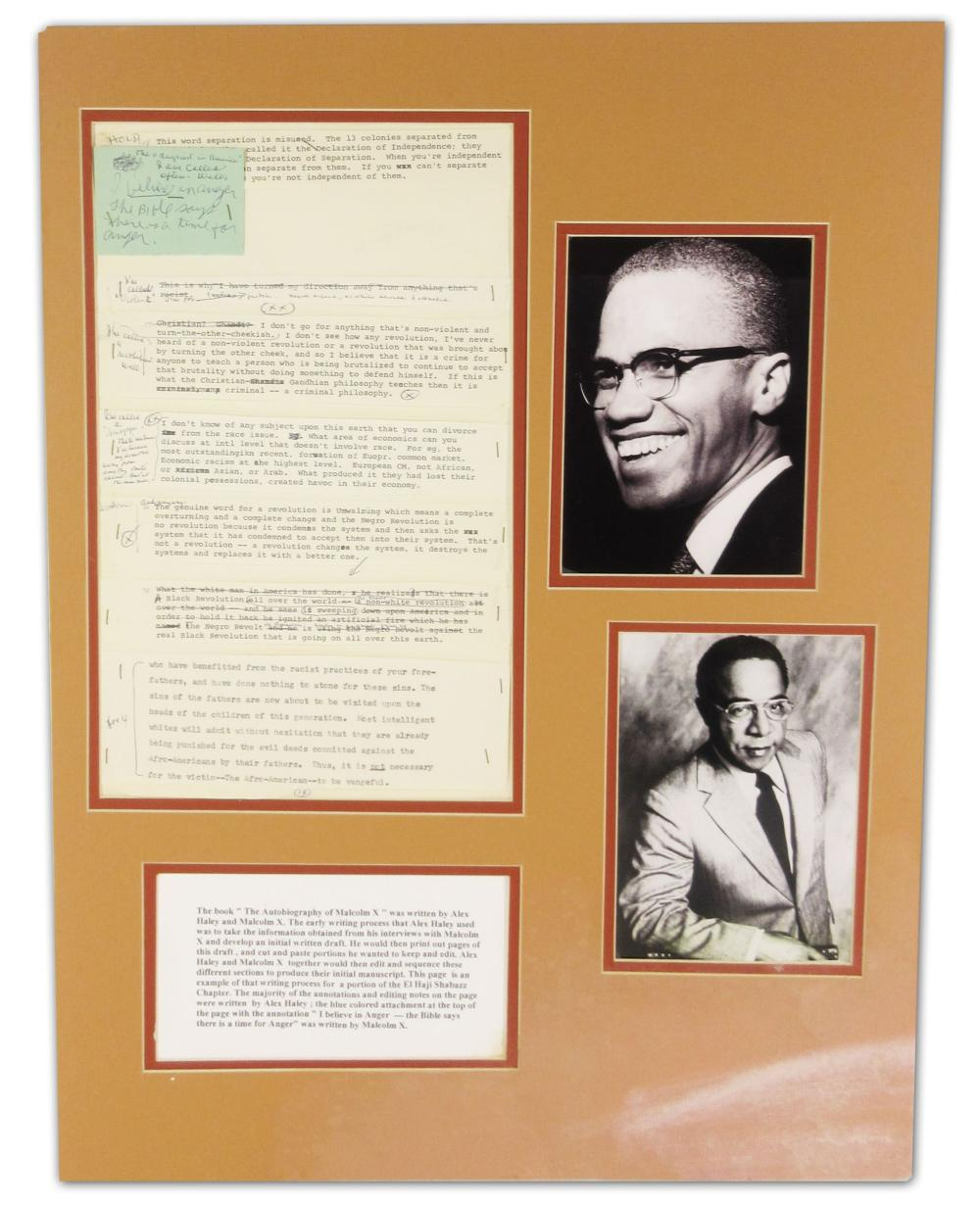 """Notes by Malcolm X and Alex Haley, for """"The Autobiography of Malcolm X"""""""