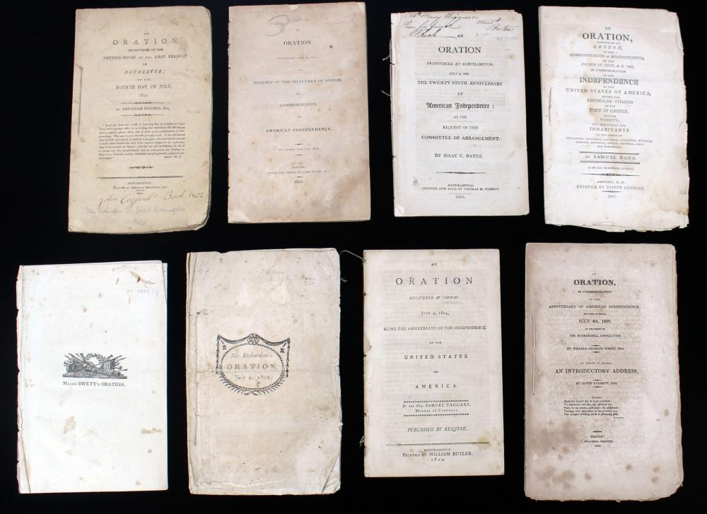 44 Independence Day Orations from Early National Massachusetts 1801-1820