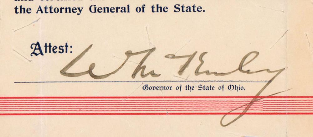 William McKinley, as Ohio Governor, Accepts a Loan