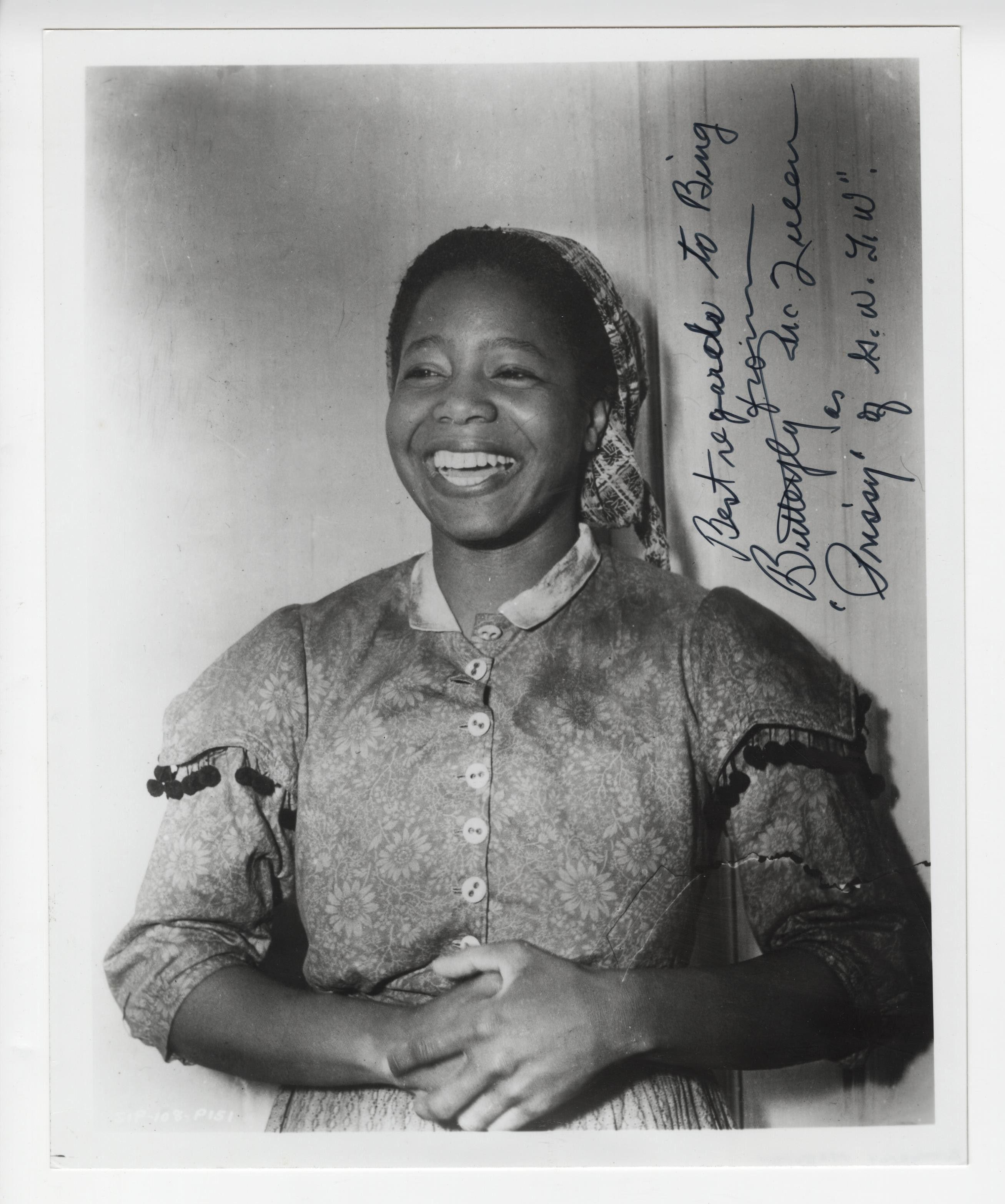 "Butterfly McQueen Signed ""Prissy"" Photo, Gone With the Wind."