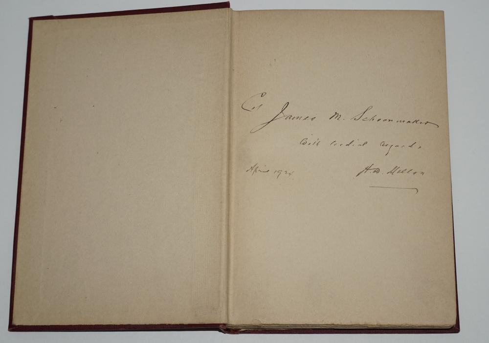 """Andrew Mellon Signed """"Taxation: The People's Business"""", Presented to Civil War Union General & Businessman Schoonmaker"""