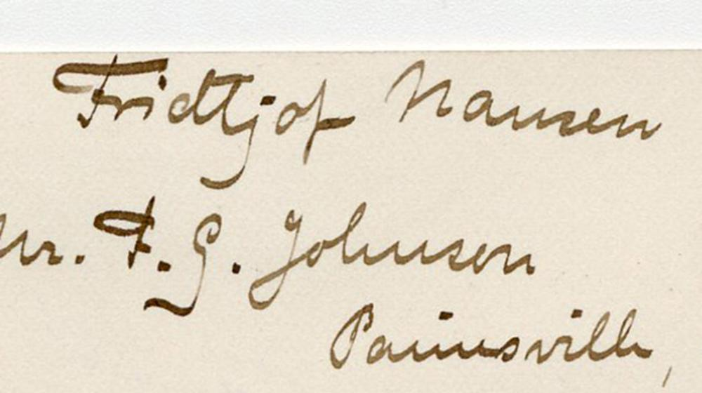 Fridtjof Nansen 3x Signed ALS Dating Just 2 Months Before Embarking on his Greenland Expedition