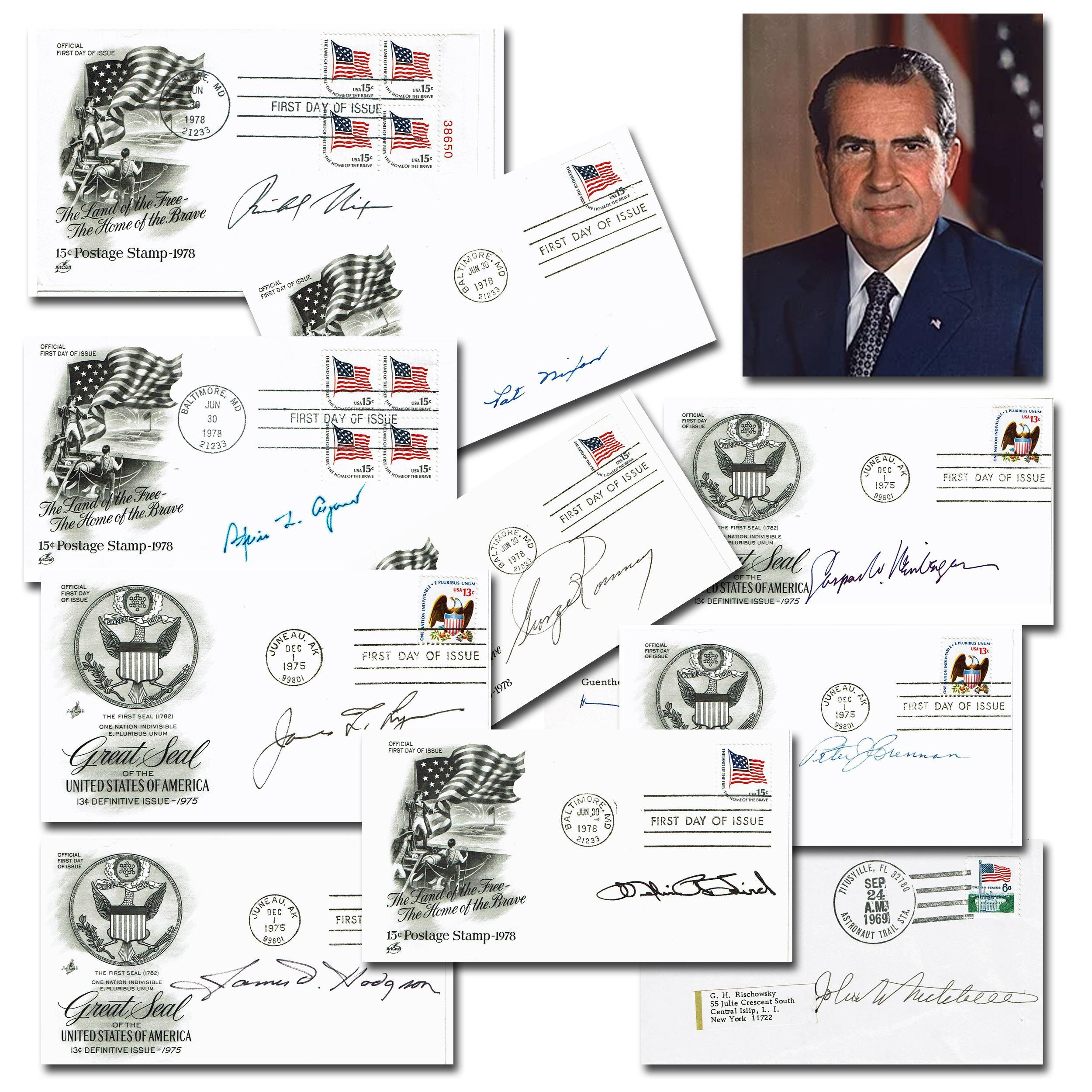 Nixon Plus His Administration 30 Signed Items