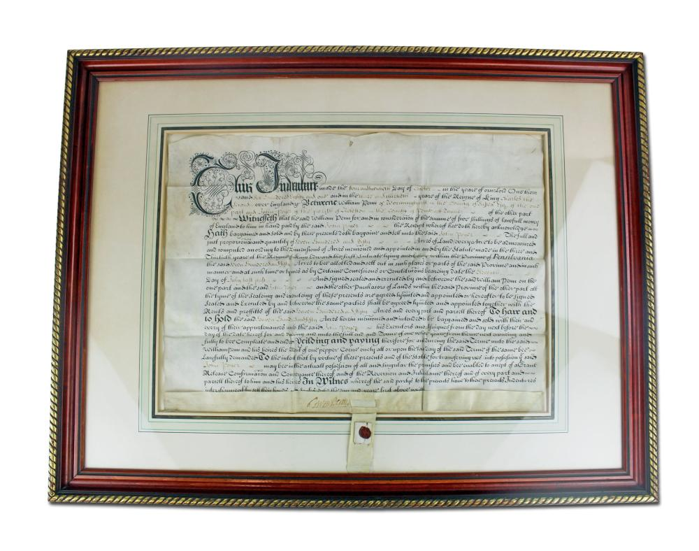 William Penn Signed Land Grant Just 7 Months After the Colony of Pennsylvania was Established