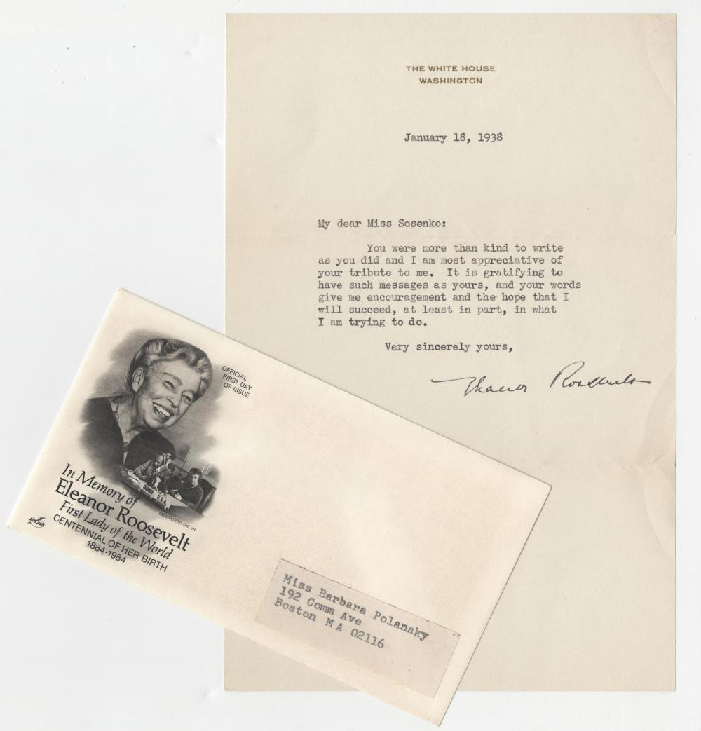Eleanor Roosevelt Signed Letter & FDC