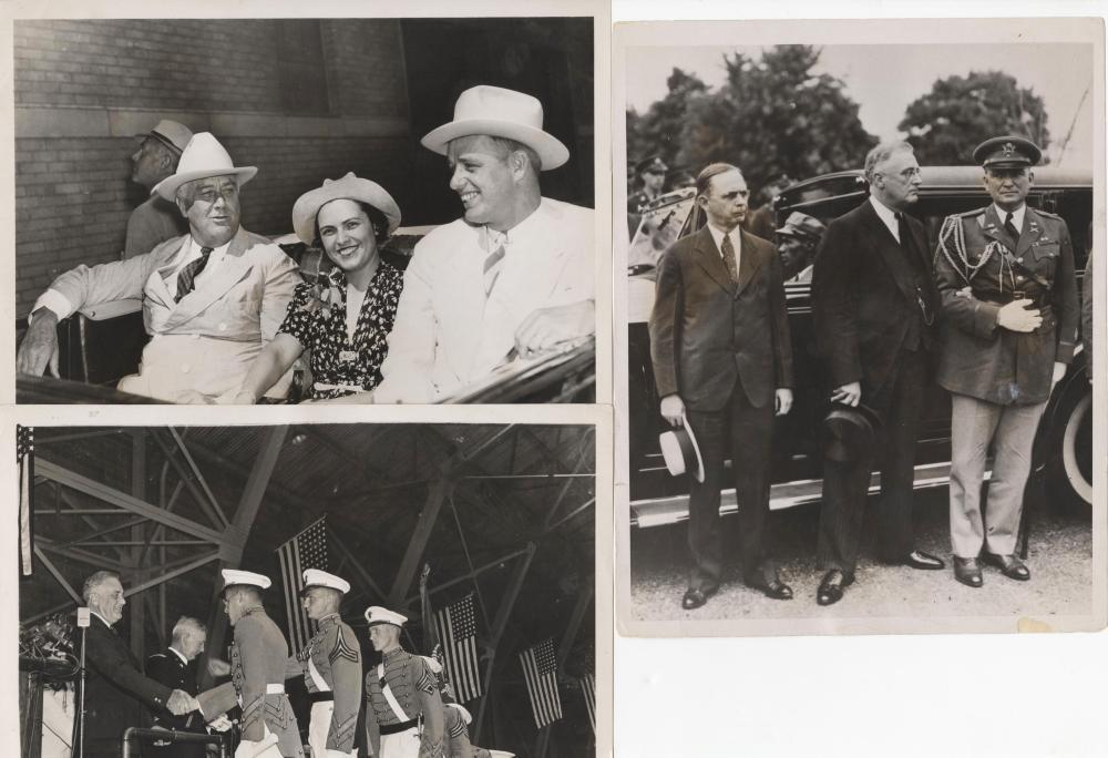 Superb set of 12 Franklin Roosevelt Vintage Photos