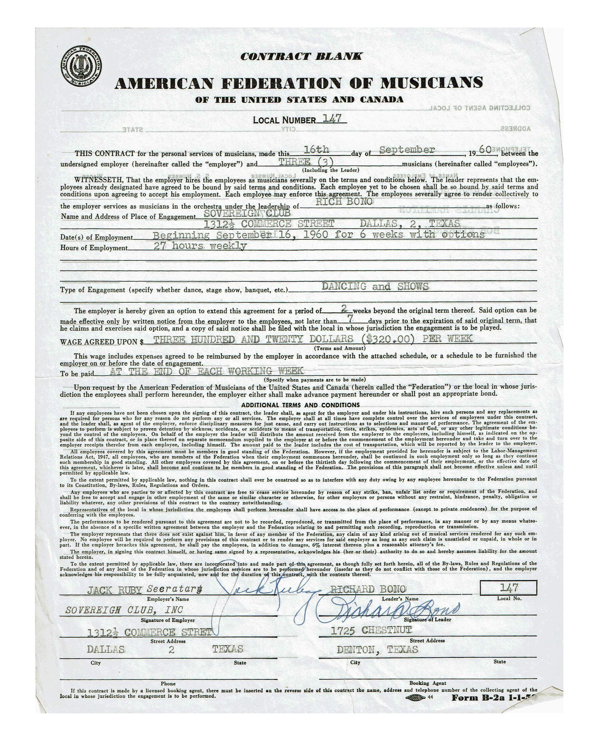 Jack Ruby Strip Club Contract Signed