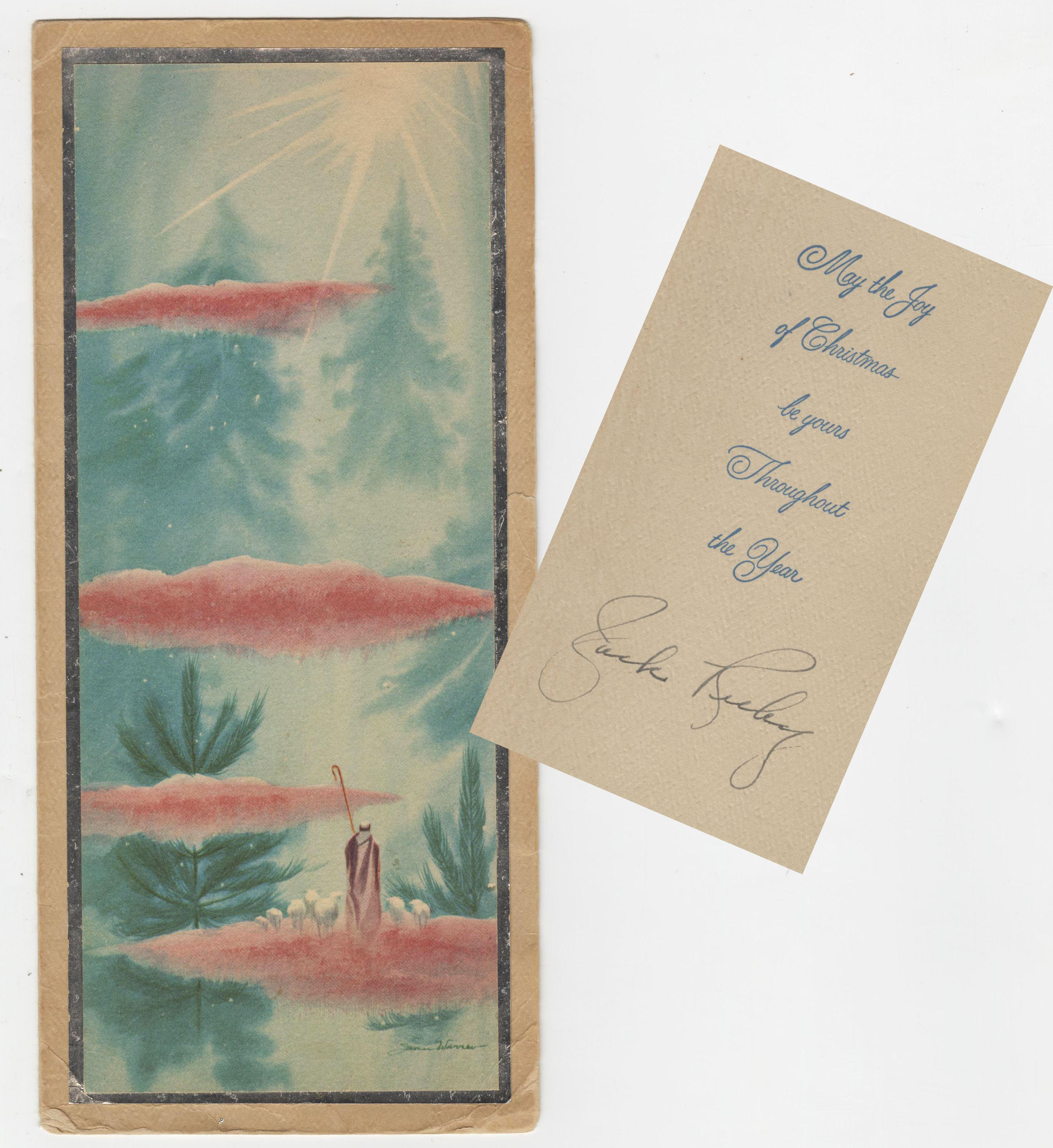 Jack Ruby Signed Christmas Card