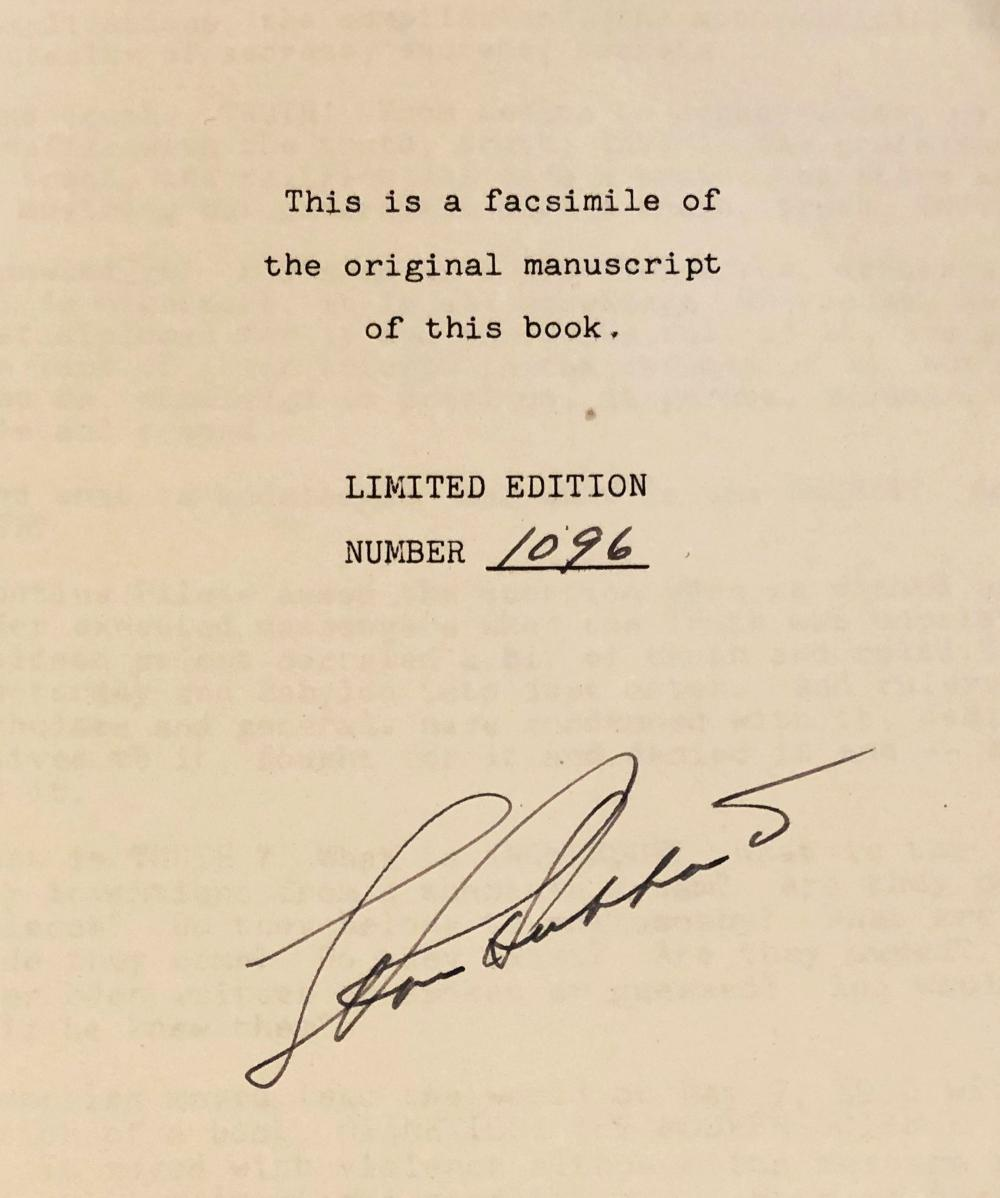 Scientology Archive, More Than 40 Items, Including L. Ron Hubbard Signed Manuscript