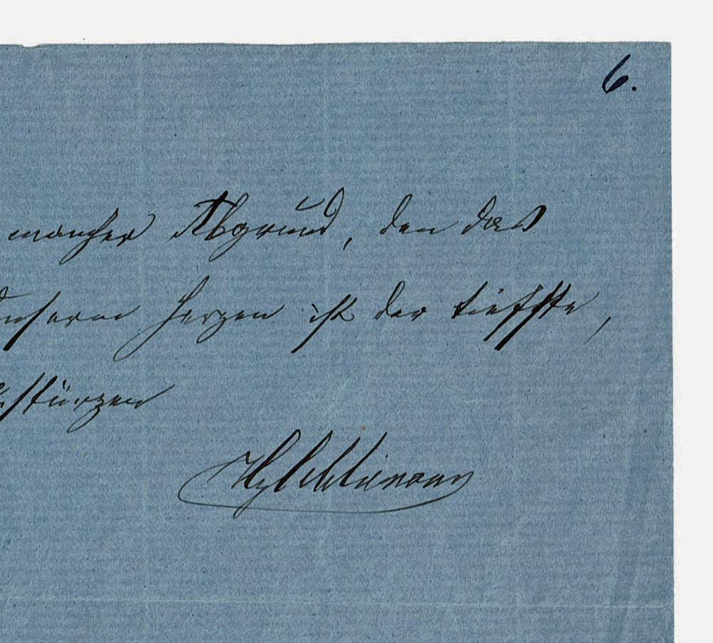 Heinrich Schliemann Autograph Quotation Signed 1884