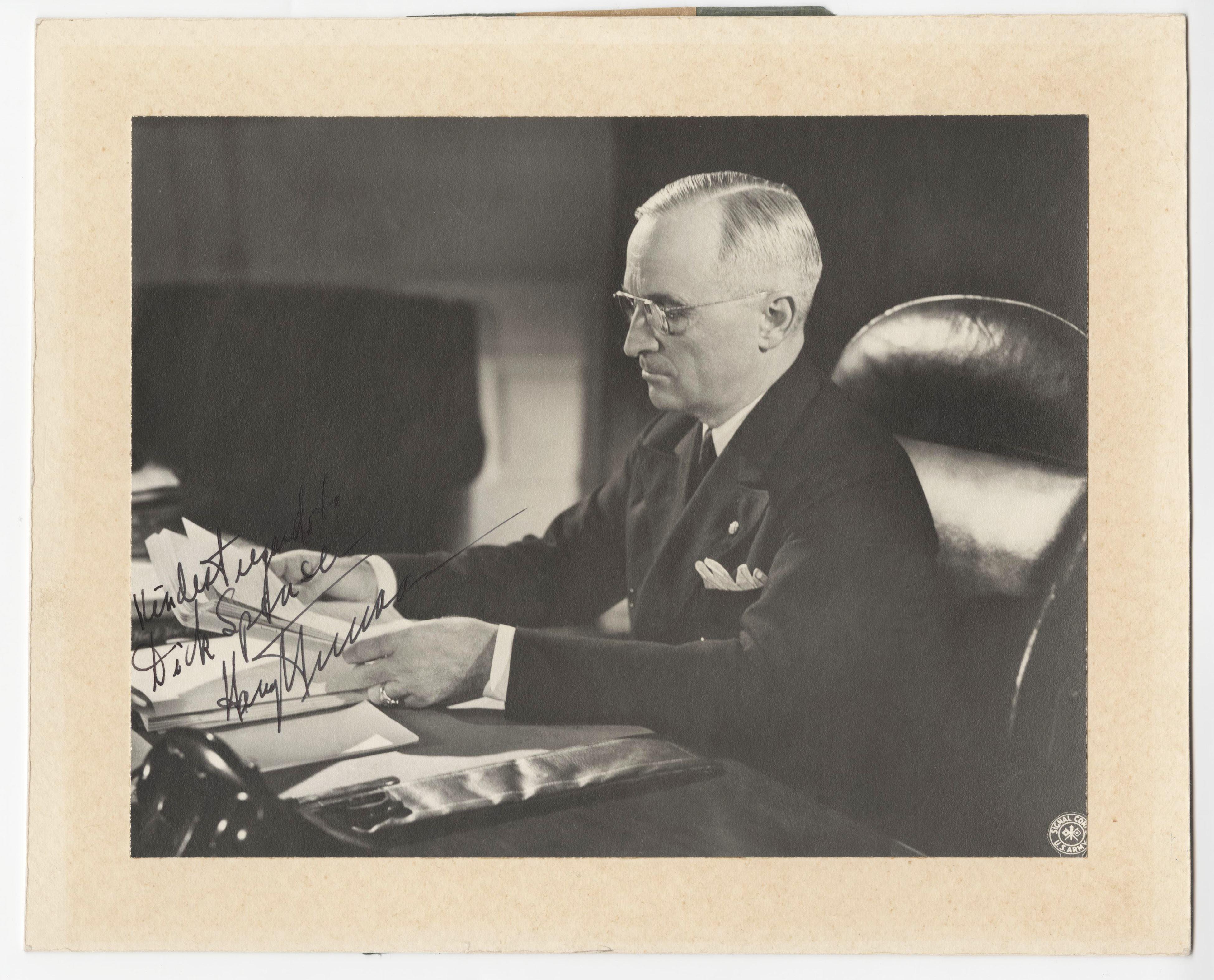 Harry Truman Impressive Signed Photo