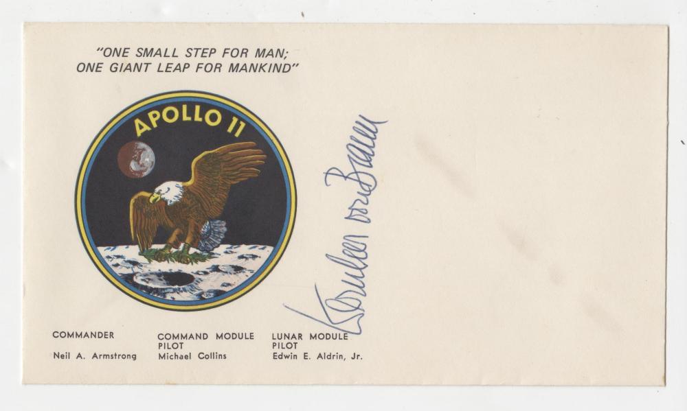 "Wernher Von Braun Signed ""One Small Step ..."" Apollo 11 Cover"