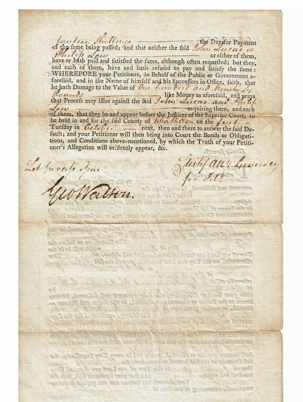 George Walton Superb Signature on Impressively Displayed & Certified Document