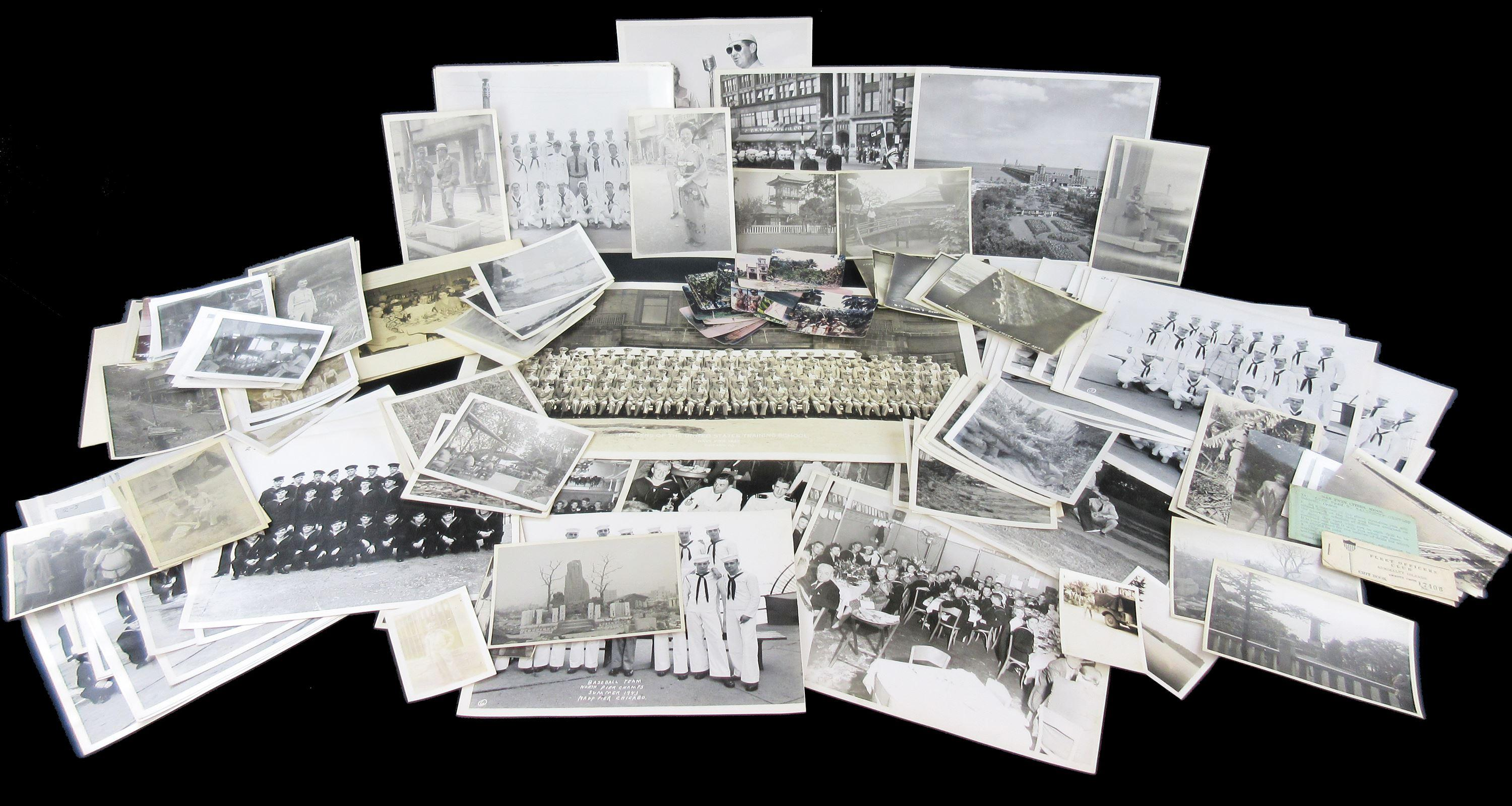 Great Collection of 160 +Photographs from World War II: Naval Training in Chicago and Serving in the Pacific