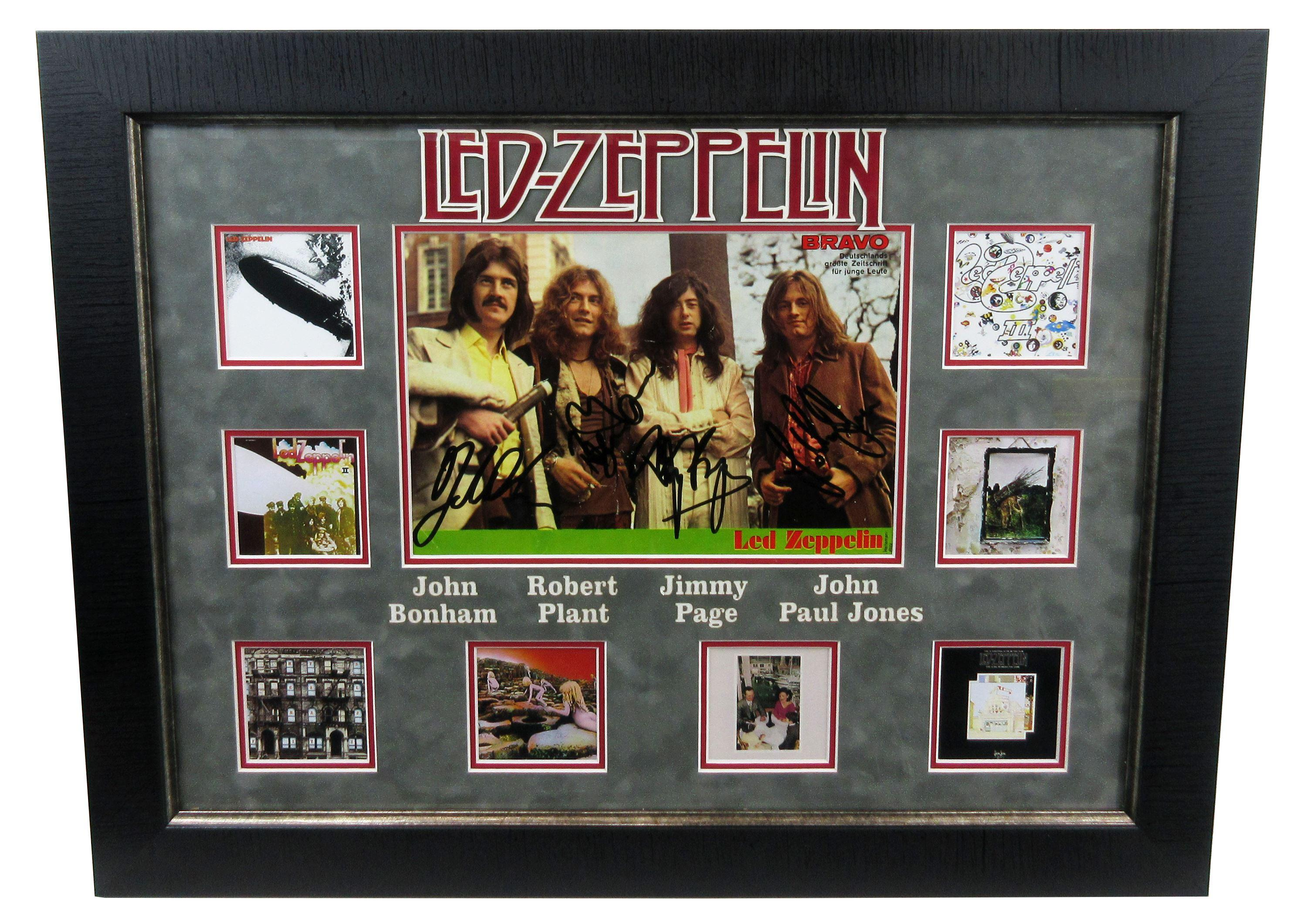 """Led Zeppelin"" Signed German Teen Magazine Spread, Signed by all Four Members Around the Time ""Led Zeppelin III"" Album Was Released With PSA/DNA Cert"