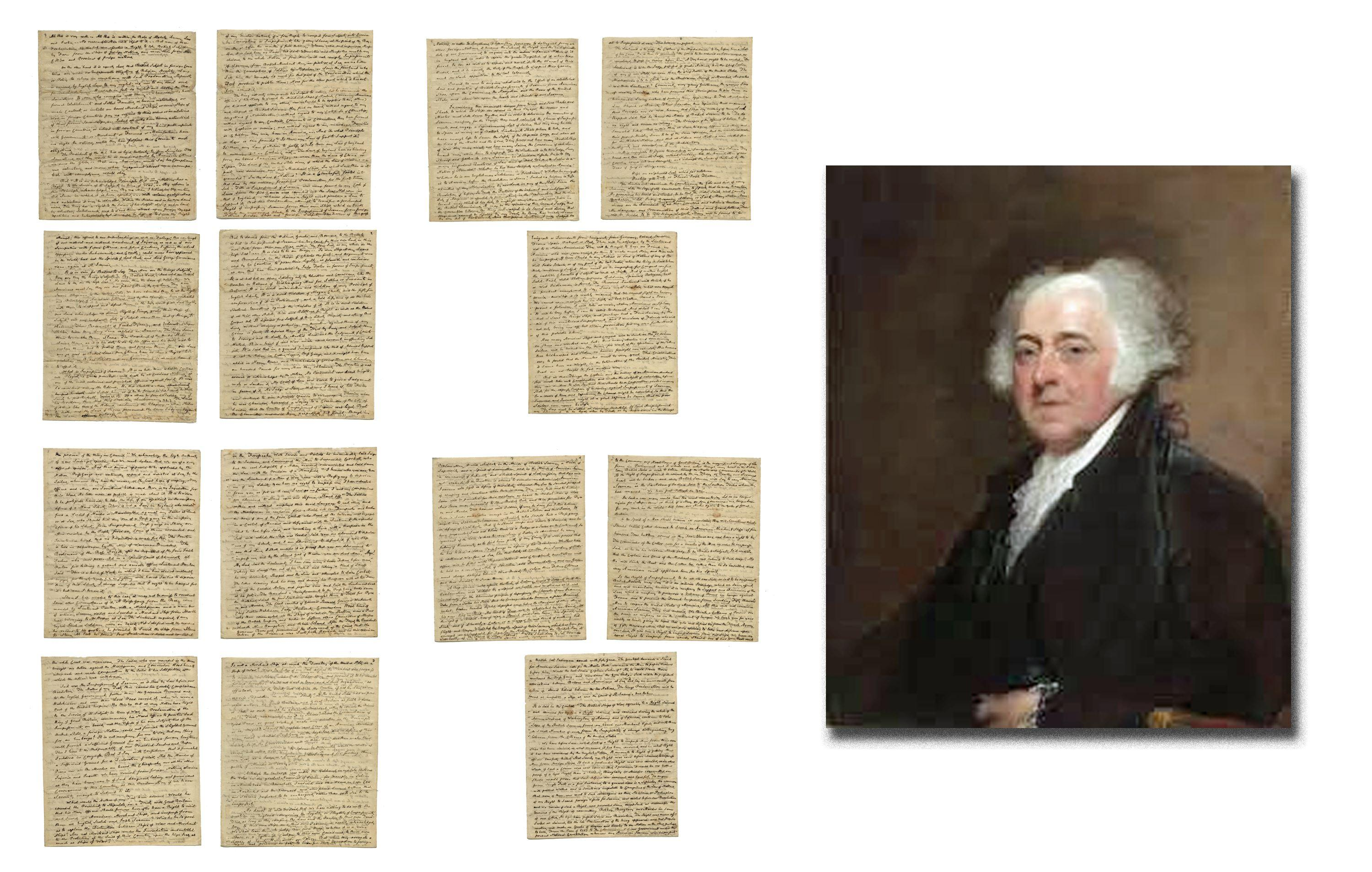 John Adams Lengthy Manifesto Defending American Sovereignty, Supporting Jefferson & Demolishing Apologists for King George III's Proclamation Allowing Impressment of American Sailors