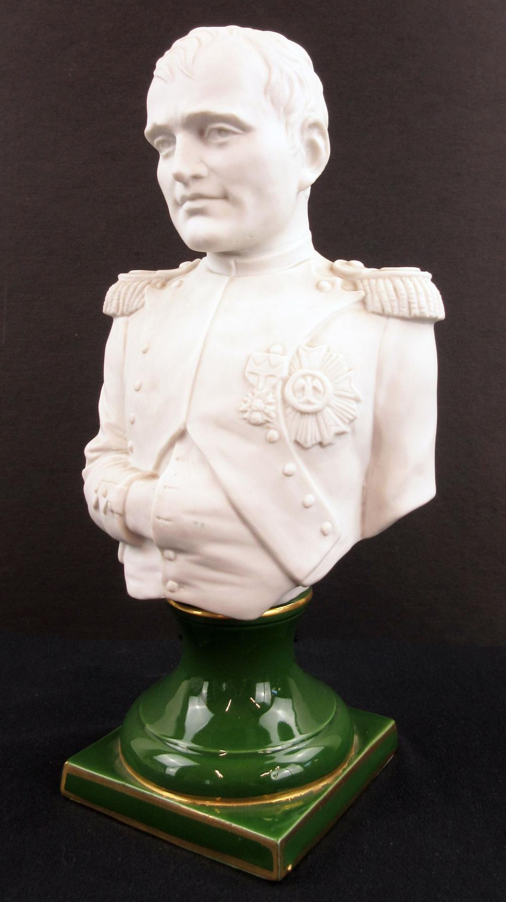 Napoleon Bonaparte Bisque Porcelain Bust after Jacques-Louis David Portrait
