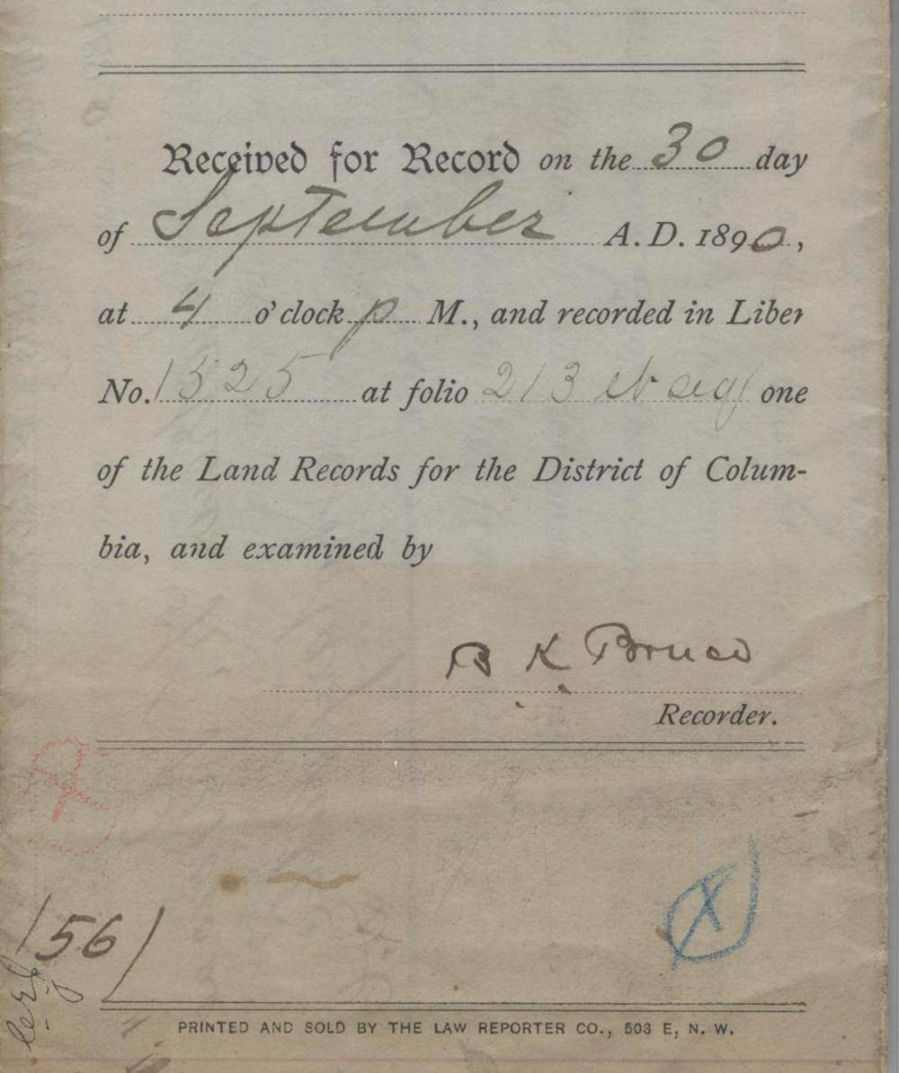 Blanche Bruce Signed Land Deed, PSA Slabbed NM-MT 8, First Elected African American Senator to Serve Full Term