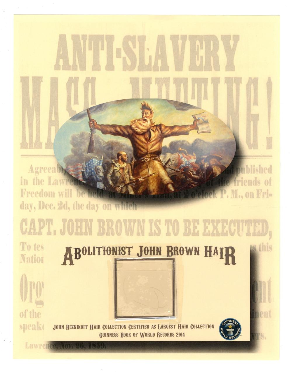 Abolitionist John Brown Outstanding Collection of Hair Strands