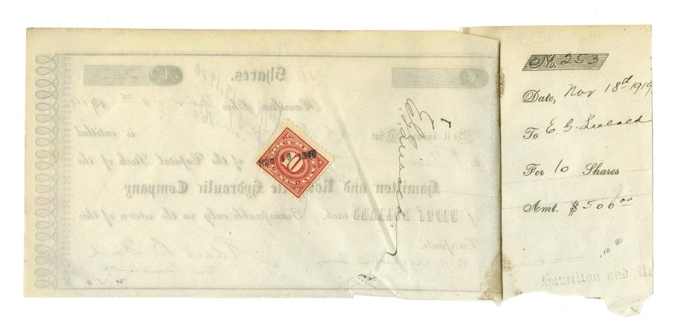 Heir to the Ford Motor Company, Edsel Ford Signed Stock Certificate