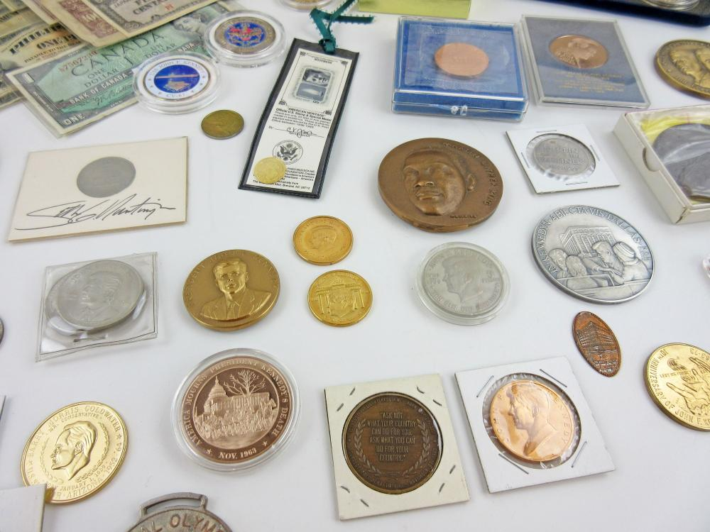 Coins & Currency Incl. JFK Commemoratives, Dealers' Lot of 130+ Pcs, Balance of the Hoskins Estate