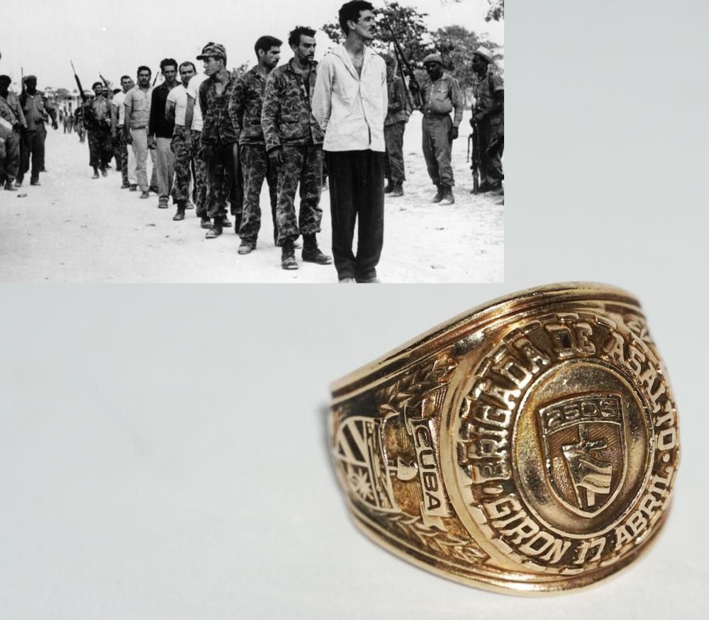 Bay of Pigs Gold Veteran Ring, Inscribed 2506, with F.B.M Inside