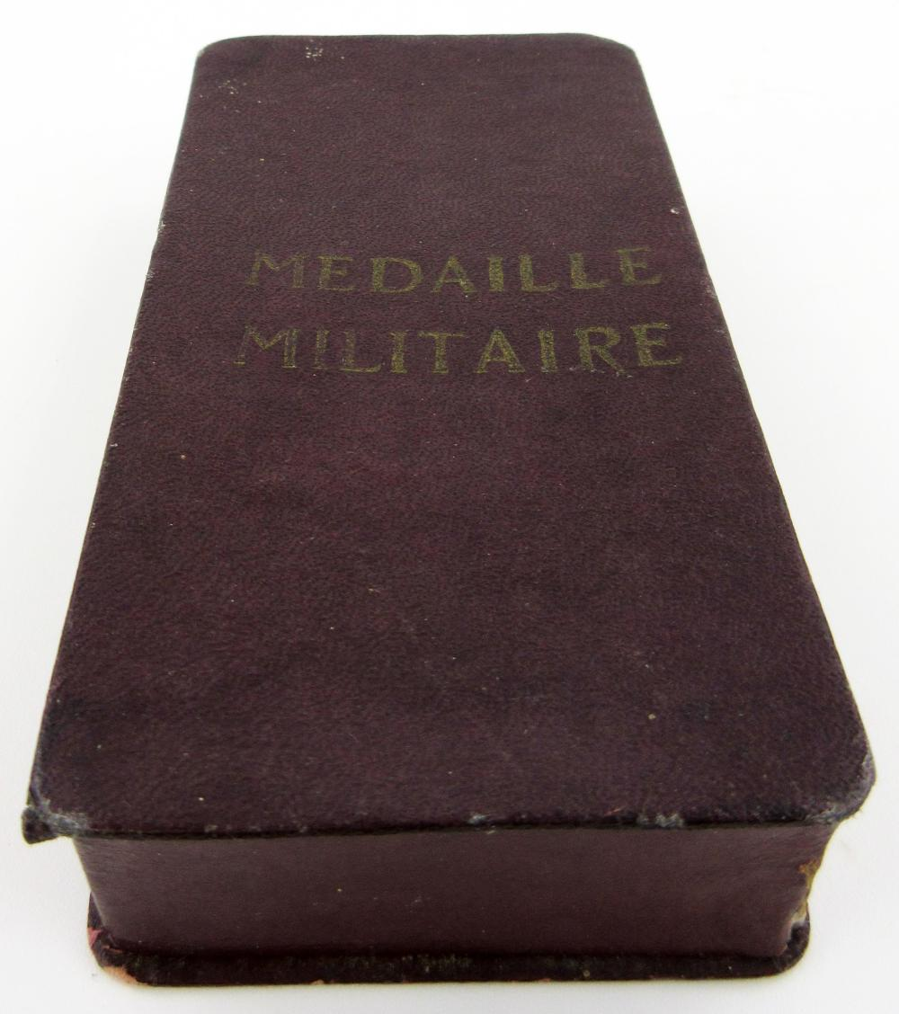 Vintage French Military Medal & Photo of Soldier