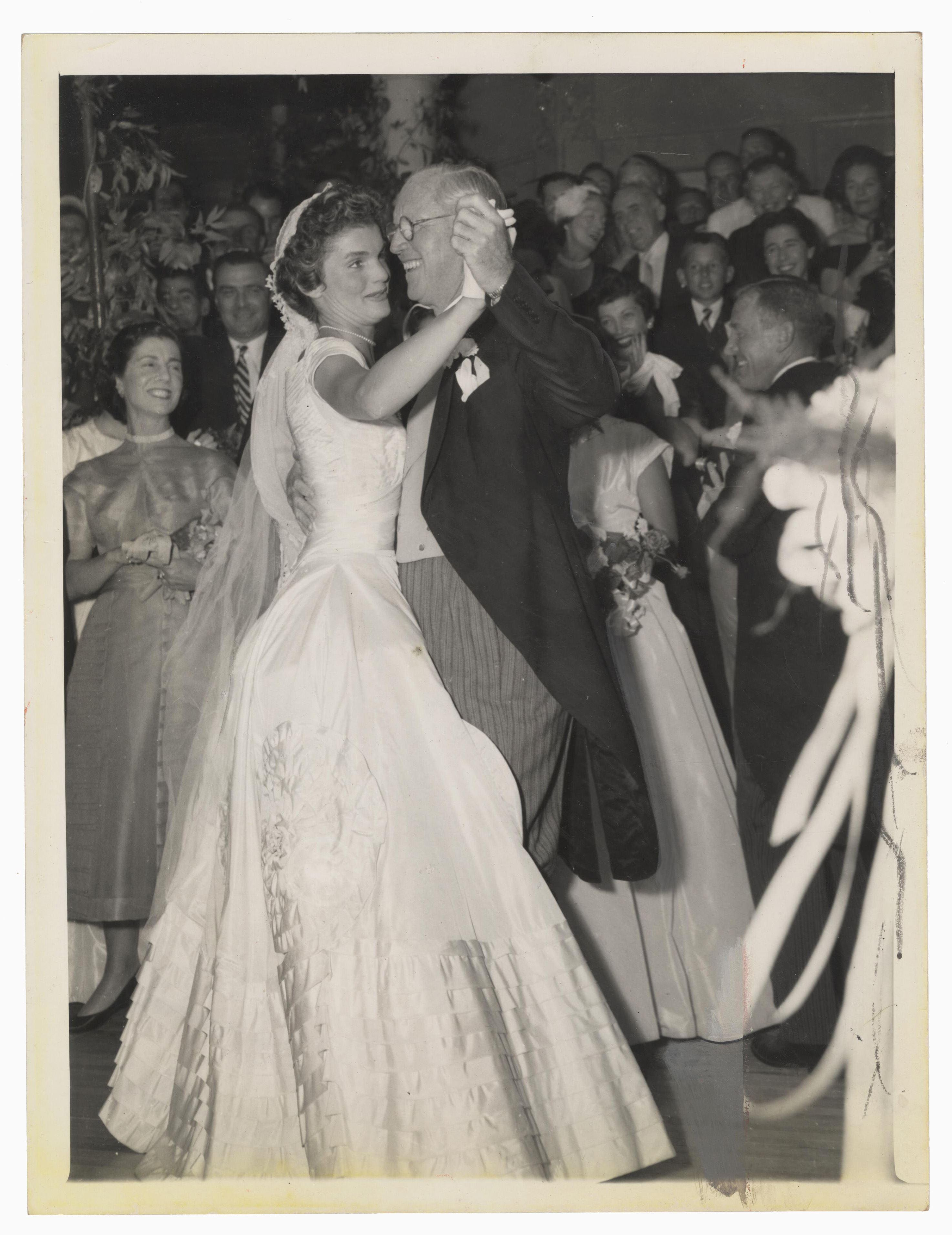 Official Press Wedding Photo of Jackie Dancing with Joseph Kennedy Sr.