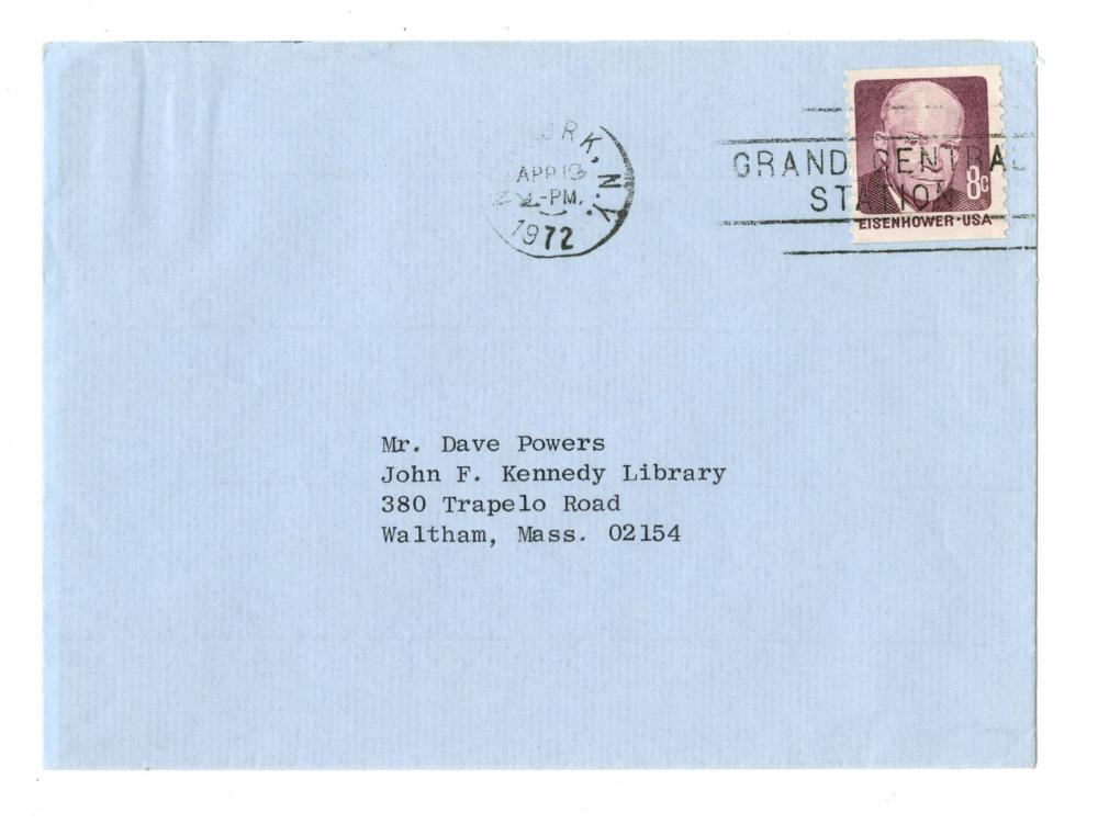 "Jacqueline Kennedy TLS to ""Dearest Dave"" Powers, JFK Staffer and Family Friend"