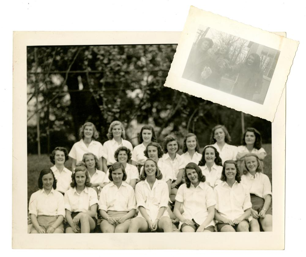 Teenage Jacqueline Kennedy Candid and School Group Photographs