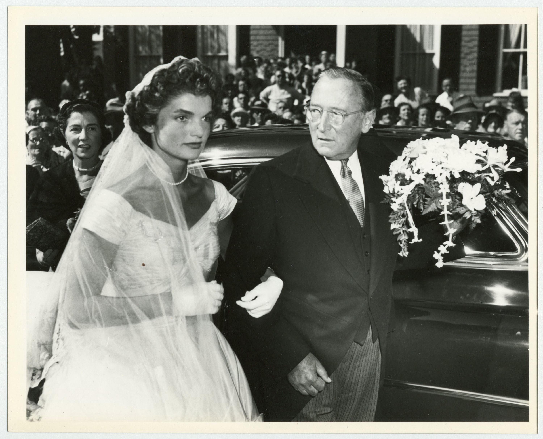 Superb Jackie Kennedy Vintage Wedding Photo