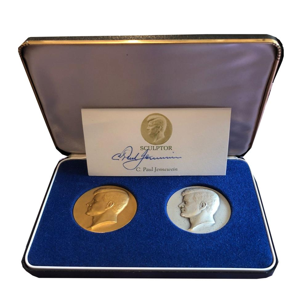JFK Gorgeous Gold and Silver Medallions