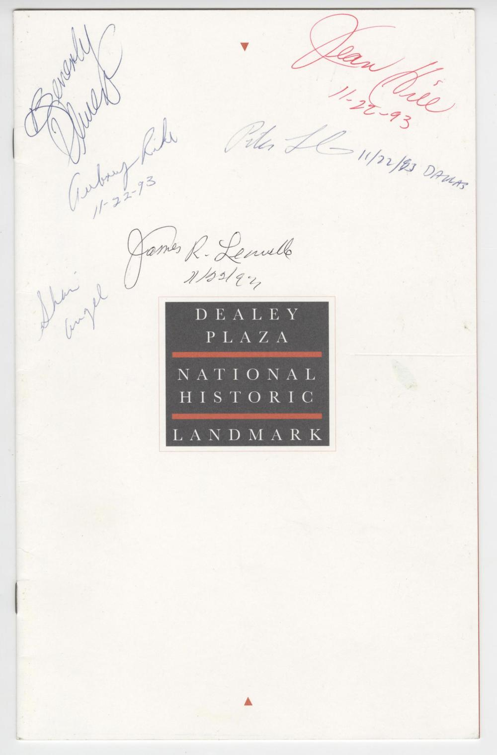 JFK Dealey Plaza Dedication Event, Signed by People of Relevance To the Assassination
