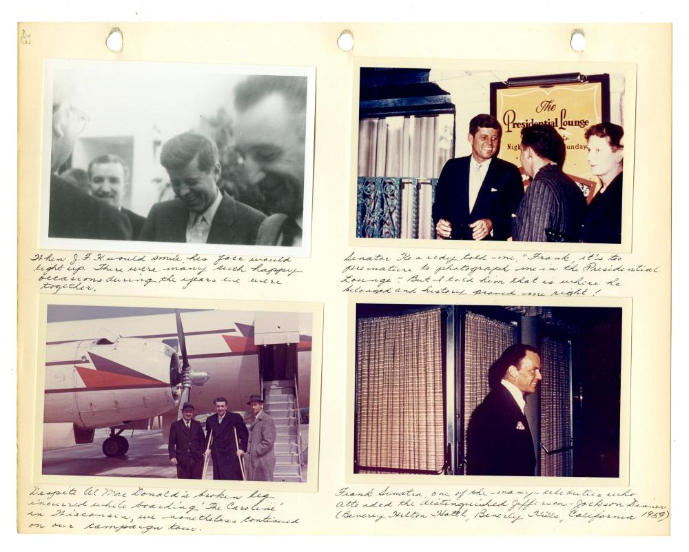 Outstanding JFK Limited Edition Scrapbook of Candid Photographs, By Frank Allen with Copies of Correspondence