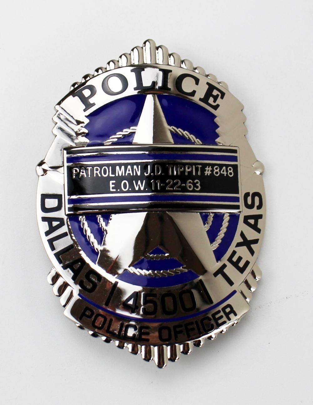 [John F. Kennedy] Dallas Police & Secret Service Badges and Pin