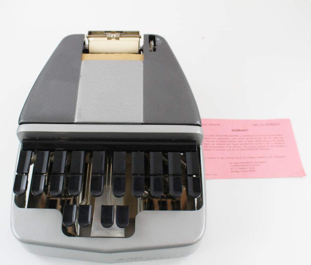 A Stenotype Machine Used During JFK Assassination Hearings, Attributed to the Warren Commission
